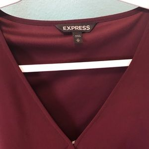 Express sheer long sleeve dress